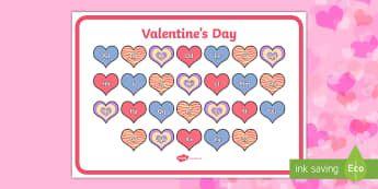 Valentine's Day-Themed Alphabet Mat - EYLF, Valentines Day, Alphabet Mat, romance, romantic, australia,