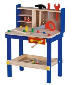 etabli avec outils et accessoires bricolage en bois pour enfant