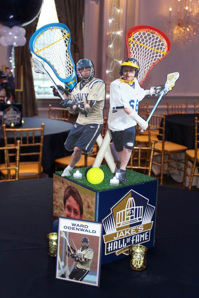 1000 ideas about sports themed centerpieces on pinterest for Athletic banquet decoration ideas