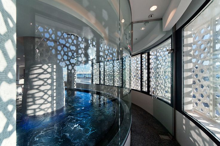 Rudas Spa Budapest with IVANKA RUDAS PERFORATED PANEL.