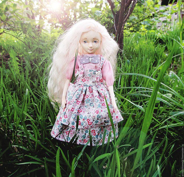 Купить Полина - белый, розовый, нежная, девочка, кукла ручной работы, куколка на счастье, цветы