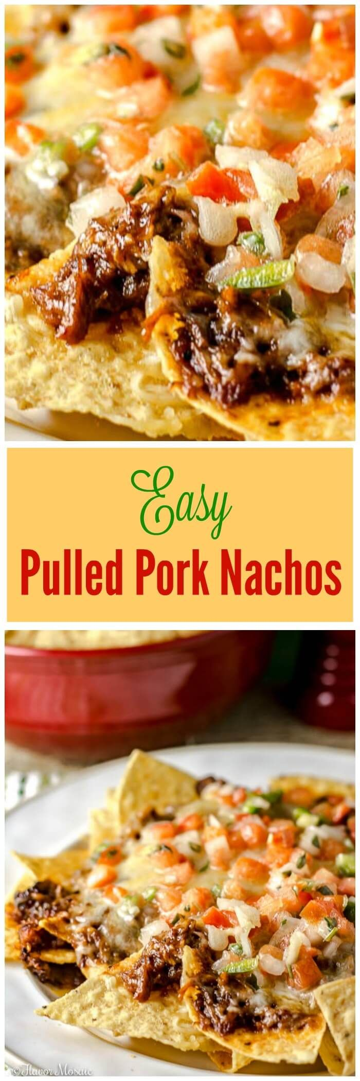 These Easy Pulled Pork Nachos by Gridiron Grub Guru with barbecue sauce are…