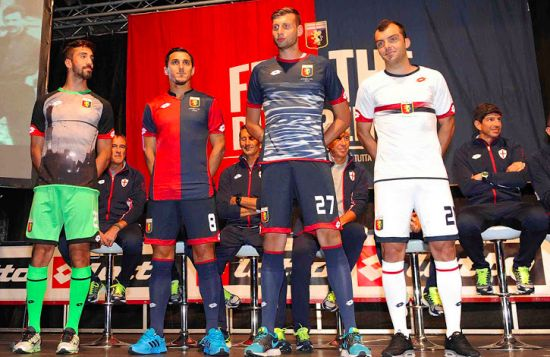 Genoa's 2015-16 official kit launch.