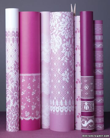 Lace Wrapping Paper  Embellish a special gift with lace-print wrap you can make yourself.  Make the Lace Wrapping Paper