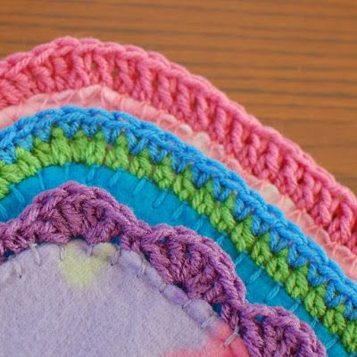Crochet Blanket Borders - I just ordered a sharp crochet hook so I can edge pillowcases and blankets directly.