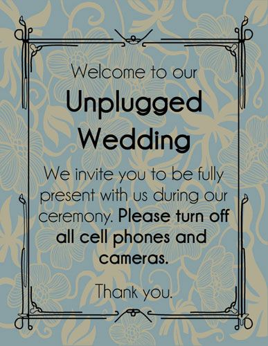 30 best unplugged wedding images on pinterest wedding stuff how to have an unplugged wedding copy n paste wording and templates junglespirit Choice Image