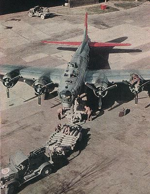 An American B-17G being loaded & inspected for her next mission.