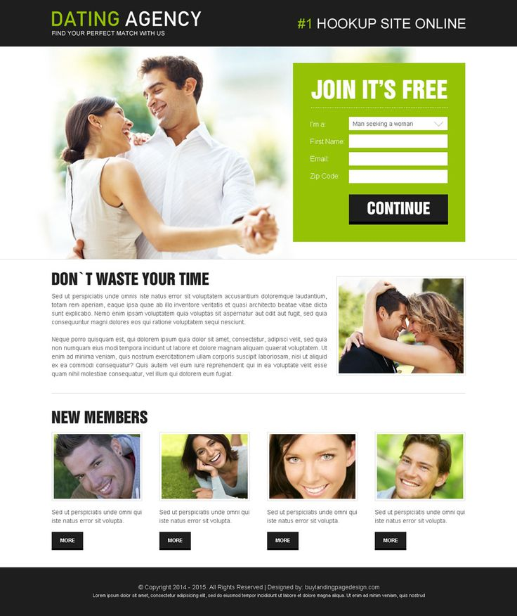 dating agency lead capture responsive design to increase leads of your dating agency