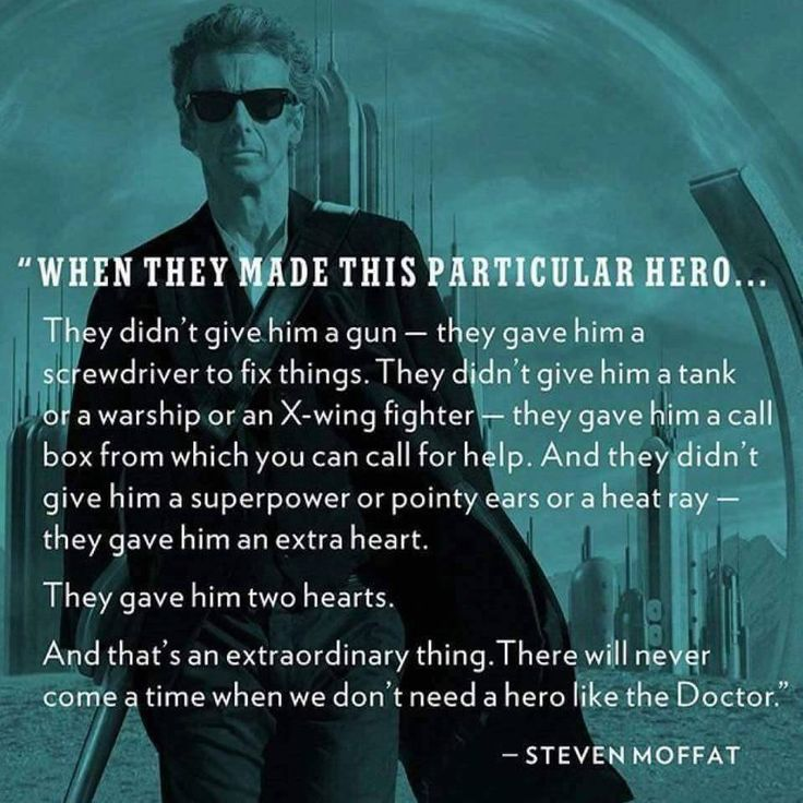 I love this even though I think Moffat didn't do capaldi justice.