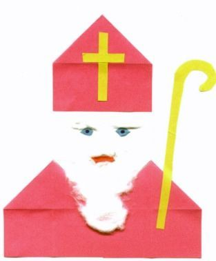 Sinterklaas vouwen: twee keer huisje. Ook leuke sint website