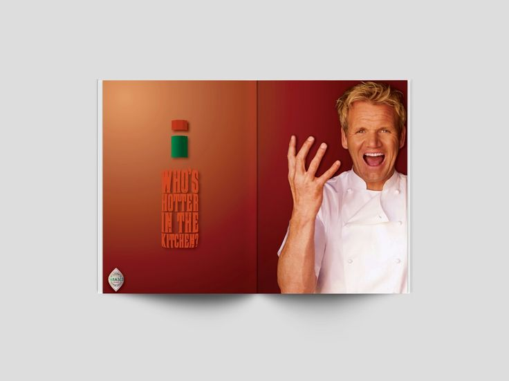 This is the 2nd out if 3 Double page spread magazine ads on Tabasco Sauce, in this assignment, the brief asked to match a suitable personality to compliment a brand. Who better than Gordon Ramsay and Tabasco Sauce?