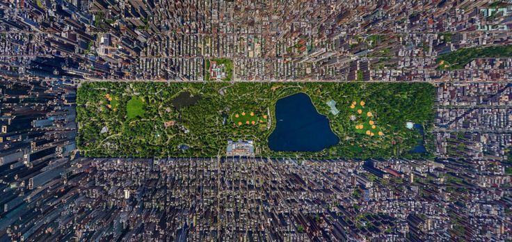 Twitter / thecoolhunter: Central Park from Above by ...