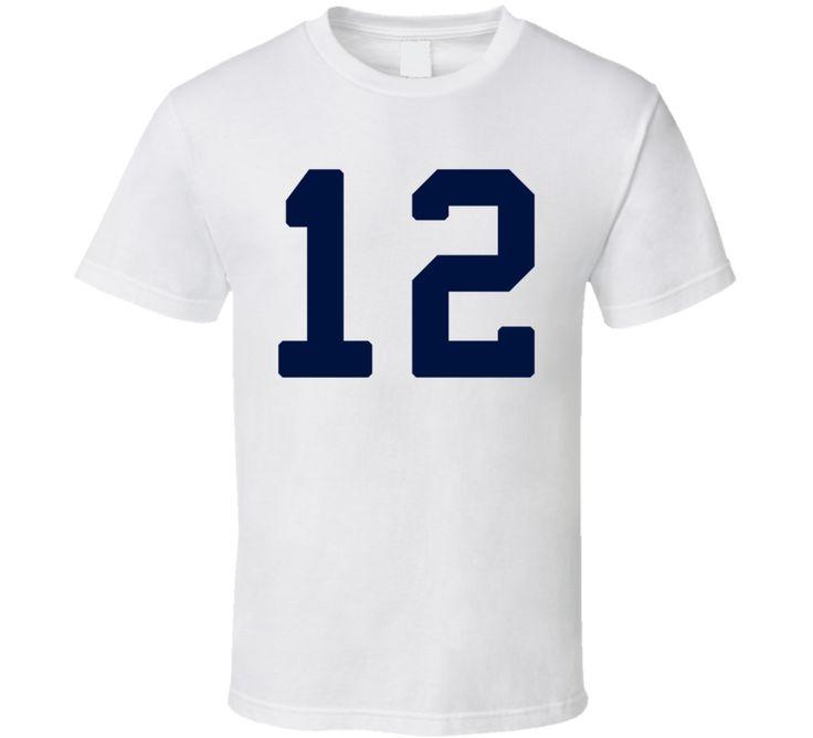 Number Twelve 12 (Blue Font) Seattle Seahawks Shaun Alexander 12's T Shirt