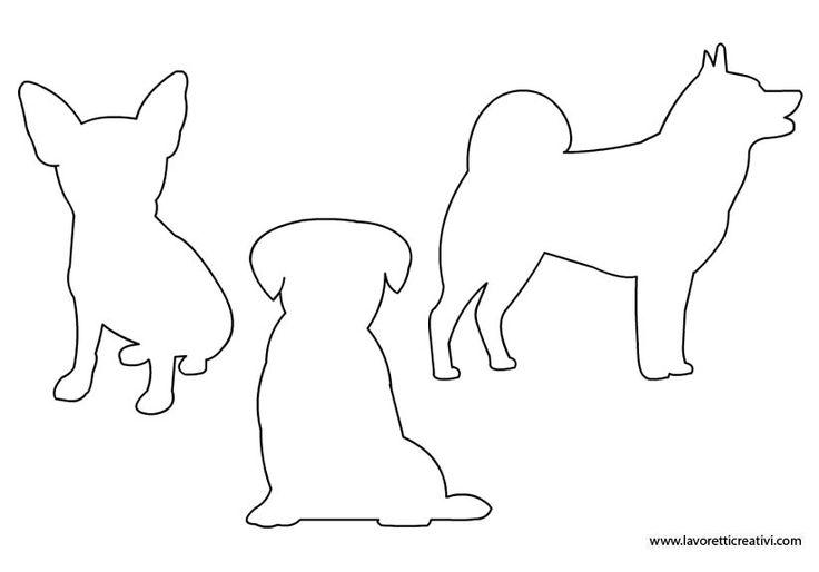 Sagome cani da stampare in sagome lavoretti