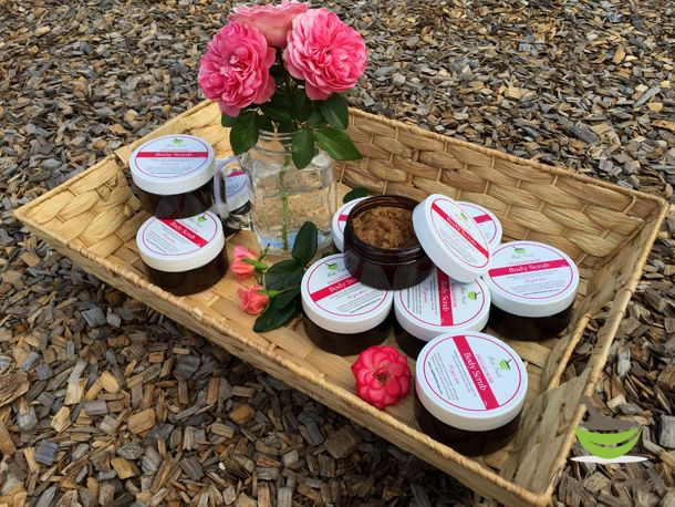 Give her roses she can *feel*. This beautifully scented Made Fresh English Rose body scrub is designed with tranquillity and romance in mind. www.madefreshskincare.com