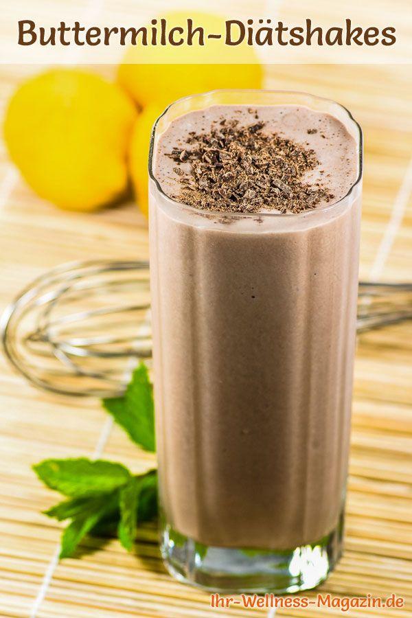 Buttermilch-Schokoshake - ein Rezept mit viel Eiweiß und wenig Kalorien, perfekt zum Abnehmen, gesund und lecker ...