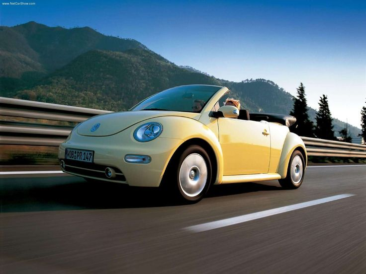 My next car, a yellow VW Beetle Convertible! (The 2012's don't have convertibles.....yet.)