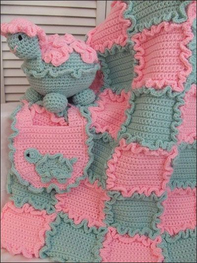 Sugar & Spice ~ each square has its own ruffle so there is no need for an edging ~ it's already done!