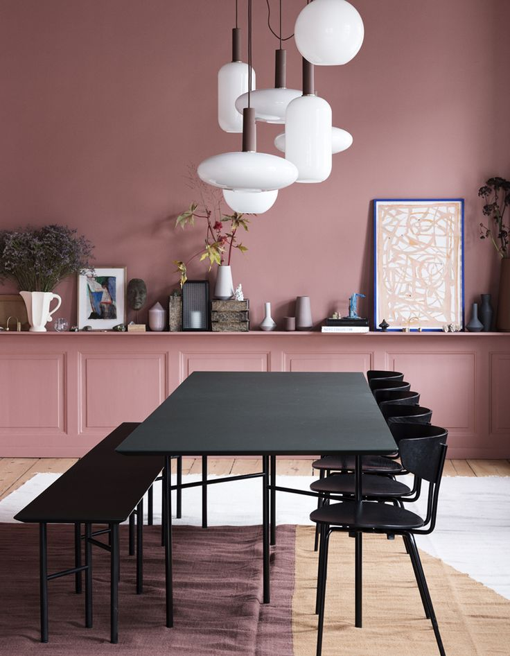 59 best PINK AND PLANTING images on Pinterest Living room, Sweet - salle a manger couleur
