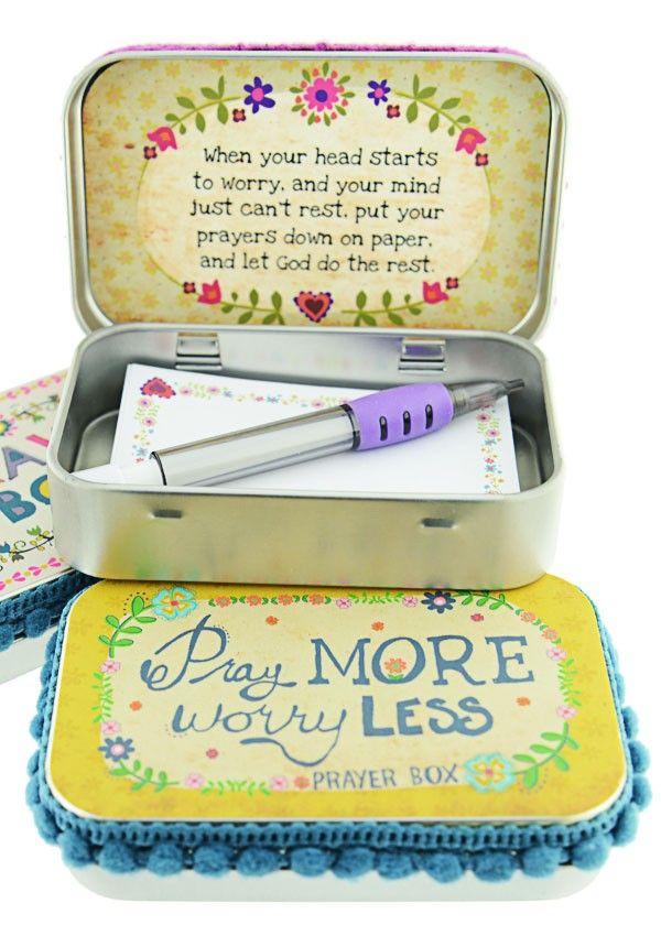 Tin Prayer Box - Cancer Patient Gift