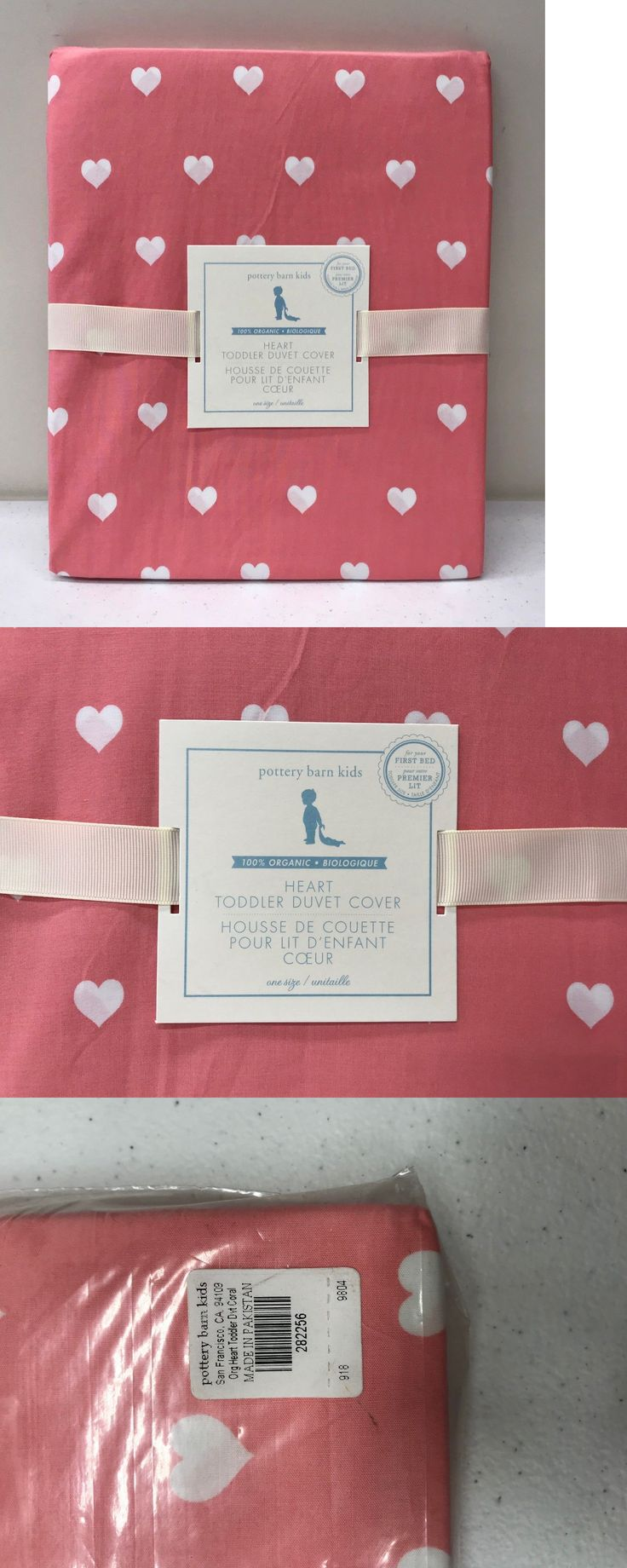 Duvet Covers and Sets 134278: New Pottery Barn Kids Organic Heart Toddler Duvet Cover, Coral -> BUY IT NOW ONLY: $44.99 on eBay!