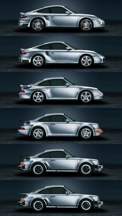 germaniron:    Porsche 911 Turbo History (1975 - 2008)    進化するってこういうことを言うんだよね、本来は。日本車をこうやって縦に並べてみると、ポルシェとの違いがはっきりすると思う。モデルチェンジのたびに、過去をなきものにしてしまう、日本車のデザインの一貫性のなさ。オーナーの感じる満足度にも直結する話ではないかな。