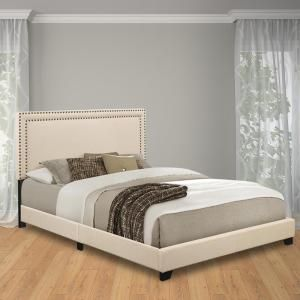 Pulaski Furniture Cream King Upholstered Bed DS-A123-291-104 at The Home Depot - Mobile