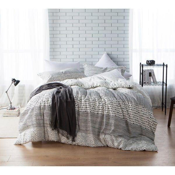 byb gradient block twin xl size grey stripe comforter shams not included - Niedliche Noble Schlafzimmerideen