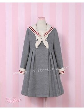Girl's Vintage Sailor Style Uniform Lolita Jacket from…
