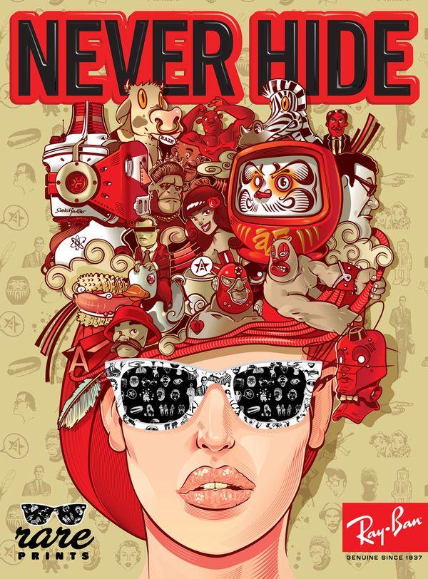 2010 adv. poster for Ray-ban Rare print campaign