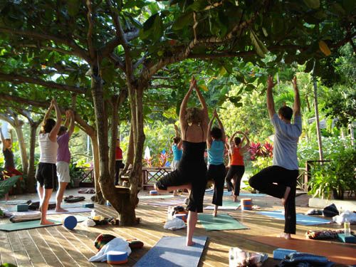 A yoga retreat in our own backyard, right here in the US in Connecticut!