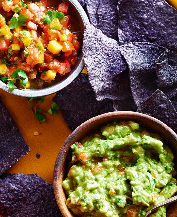 Pico de Gallo Guacamole and Mango Salsa