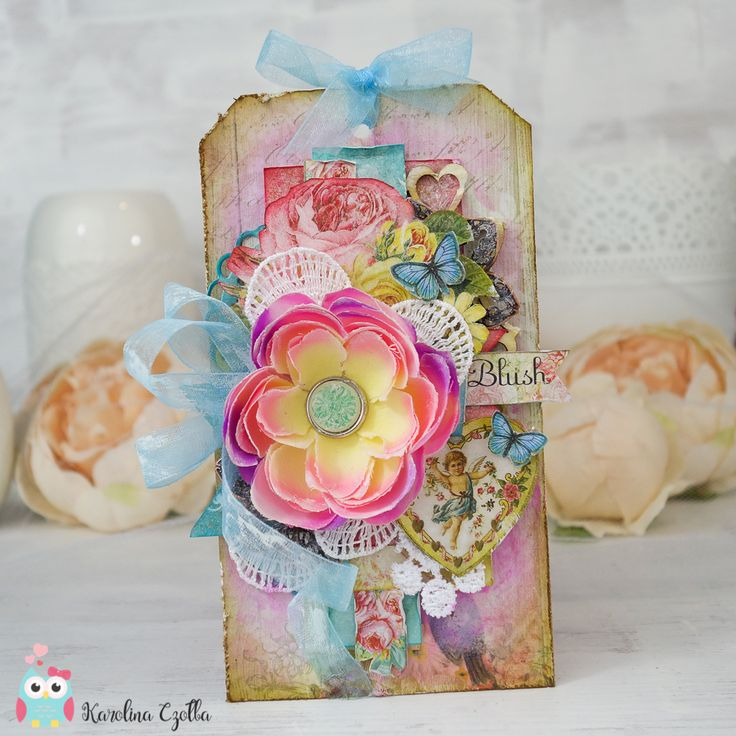 Scrapbooking Tag made with Blue Fern Studios Bluch collection. cardmaking, scrapbooking