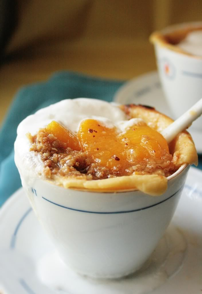 peach cobbler-crumble. most helpful blog I've ever found. love the pics and the descriptions.