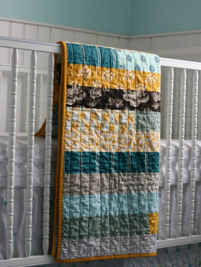 Jelly Roll Race quilt (variation - no mitered joins) -- I LOVE this quilt!  I think it's perfect colors, perfect size, and perfectly simple - TOTALLY my style.
