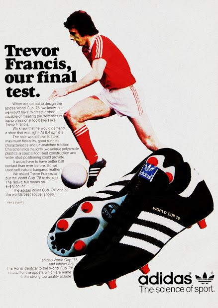 PUB. Adidas. Trevor Francis. 1979. ~ THE VINTAGE FOOTBALL CLUB