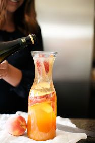 Prosecco Sangria | refreshing signature cocktail for brunches, showers and dinner parties