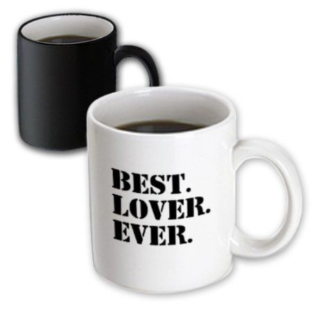 3dRose Best Lover Ever - fun humorous romantic love gifts for anniversary or Valentines day - funny humor, Magic Transforming Mug, 11oz