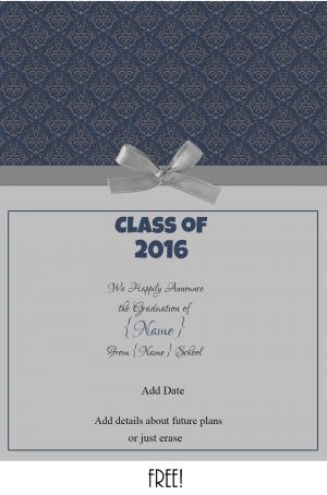 Free printable graduation announcement that can be personalized