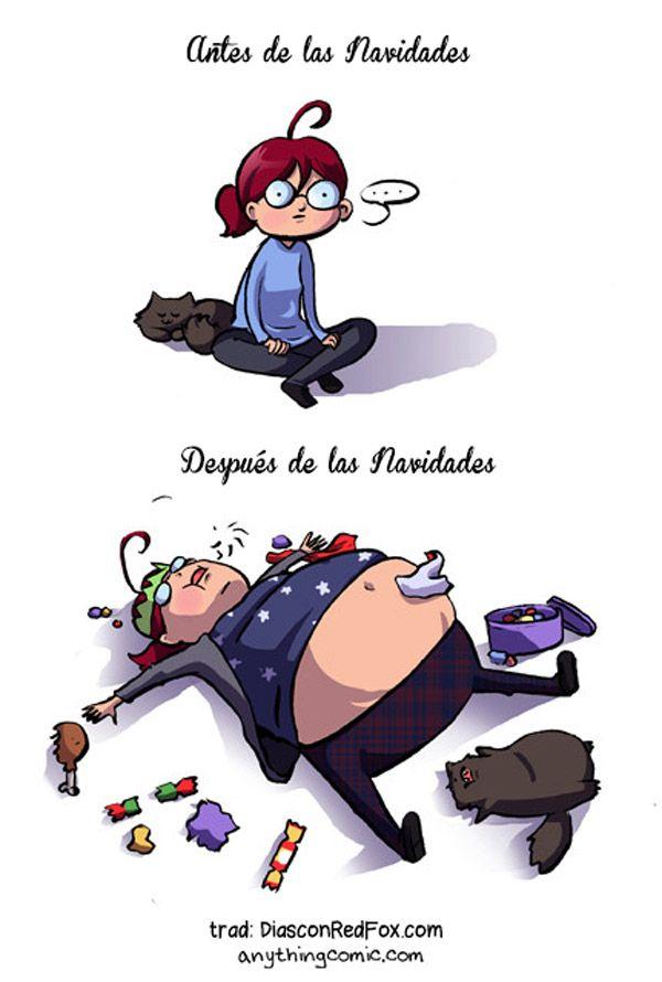 Antes y después de las navidades.