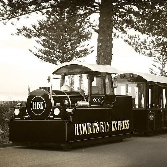 The Hawke's Bay Express along Marine Parade ... what a way to see the Art Deco Capital www.HBExpress.co.nz