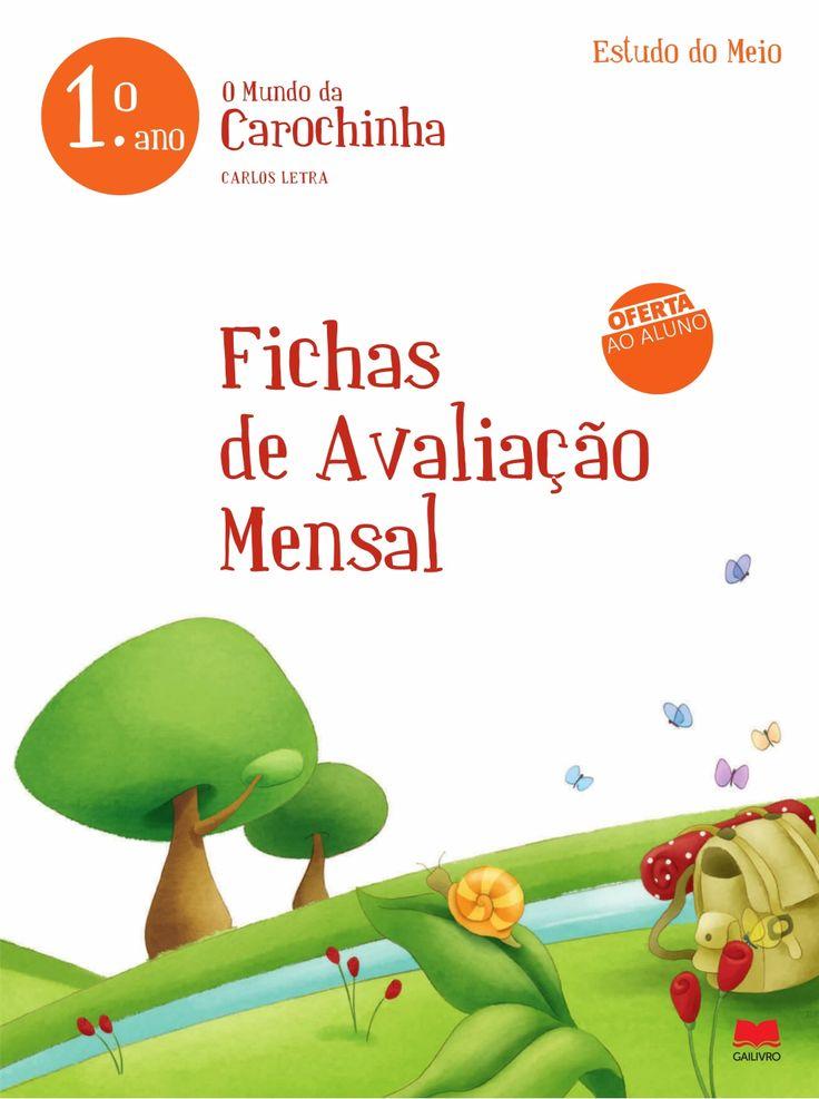 Fichas avaliação mensal em 1º by Andreia Santos via slideshare