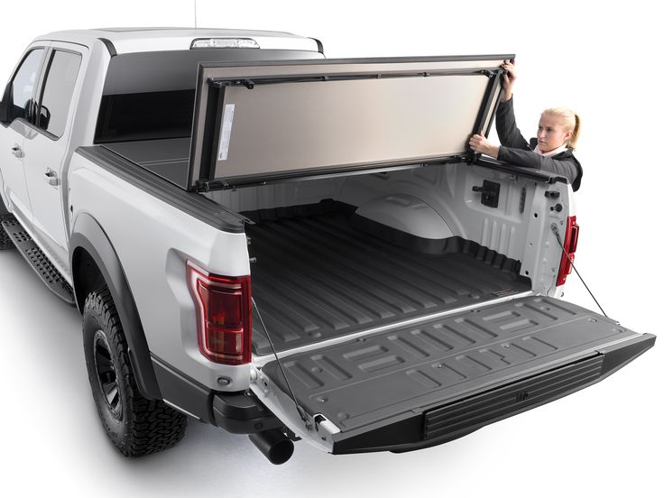 New for your truck! The WeatherTech AlloyCover – a hard, tri-fold truck bed cover that maximizes protection without compromising style, strength and aerodynamic qualities.