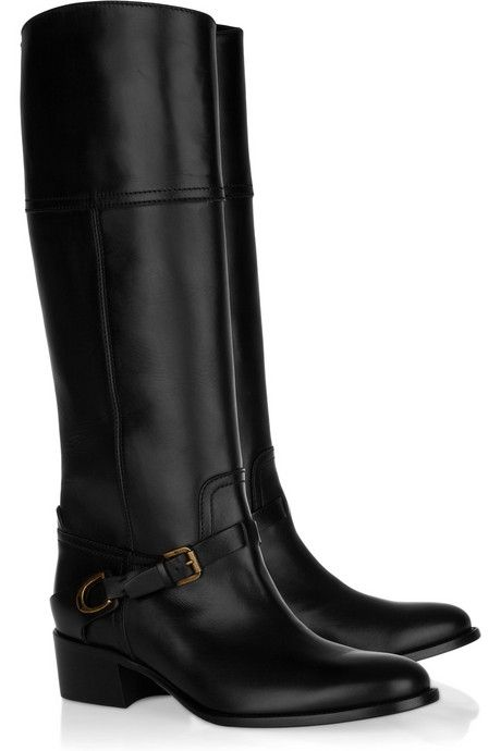 Ralph Lauren Collection Safara knee-high leather boots
