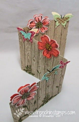 Z fold with flower and butterflies StampinUp! convention 2014 - Stamp & Scrap with Frenchie