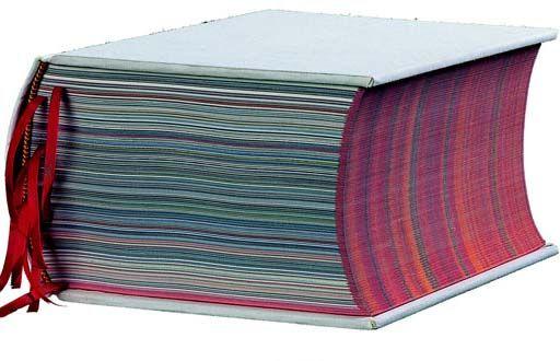 A book designed for textile designer Sheila Hicks
