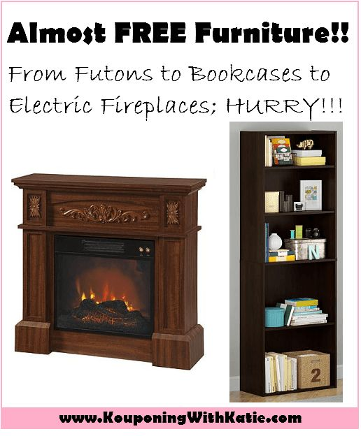HUGE Furniture Sale; $4.70 Bookcases, $6.33 TV Stands, $29.99 Electric Fireplaces, & More!!! Replace Your Furniture For Just About FREE!!! | KouponingWithKatie