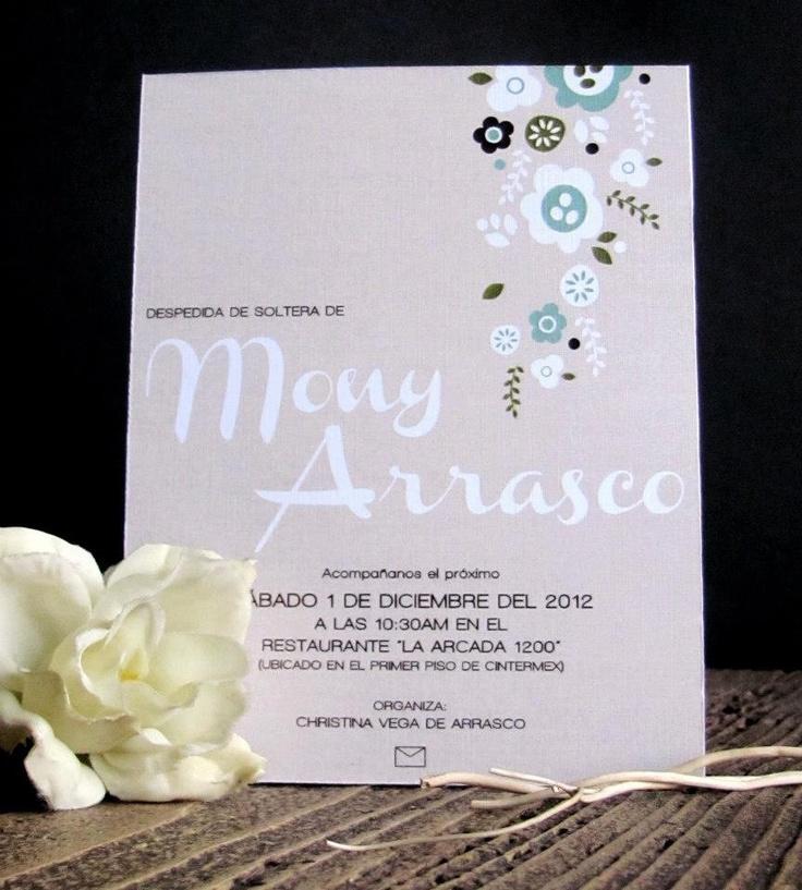 Invitacin despedida de soltera Bridal shower invitation