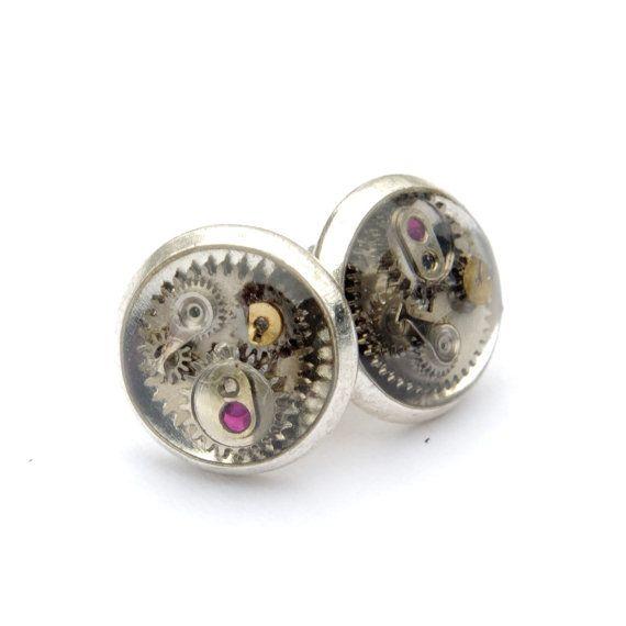 Steampunk fantasy clockwork Earrings romantic by SteamCookies