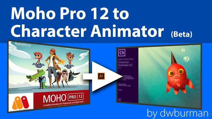 Moho Pro 12 to Adobe Character Animator